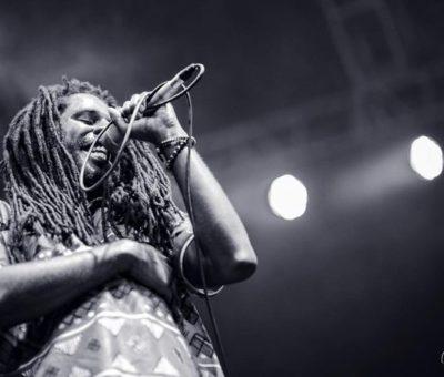 "Chronixx performing at the ""Pulse Jam Fest"". Photo credit: Bash Mutumba"